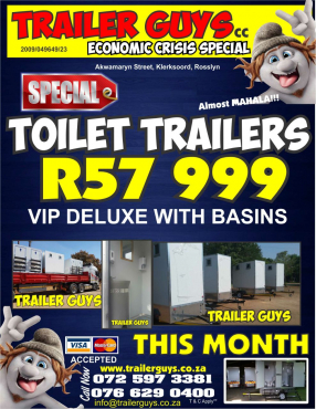 Mobile Toilet Trailers VIP