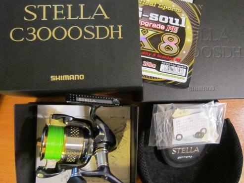 Shimano Stella C3000SDH 10 Stella FE + YGK X8 G-Soul PE #0.6x200m