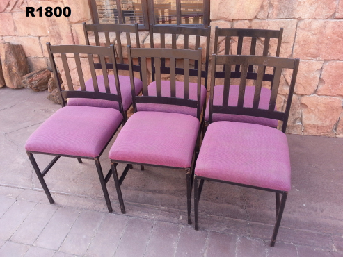 6  x Steel Dining Room Chairs