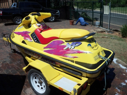 Seadoo XP jetski with trailer