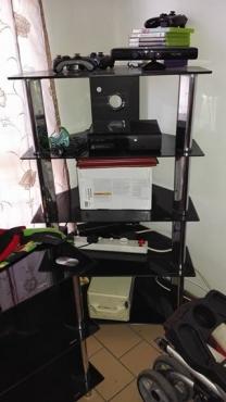 Tempered glass TV unit set
