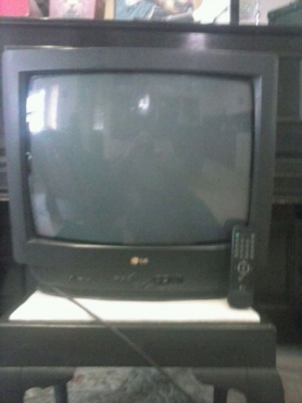 LG TV with remote