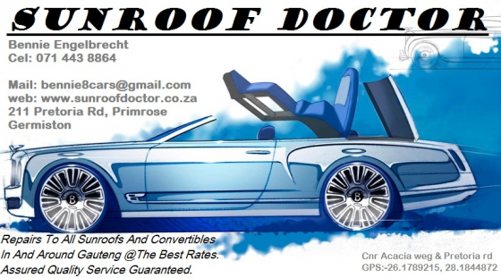 Sunroof Service  to all Makes and Models
