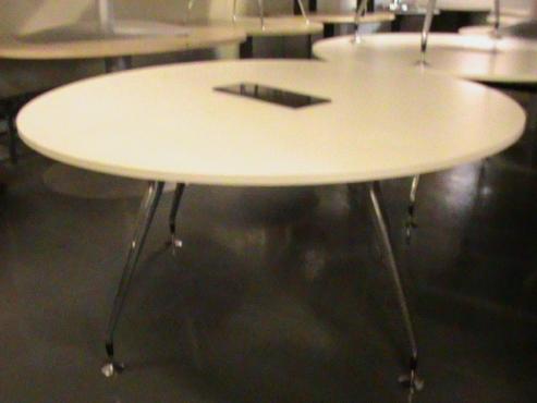 2 Piece white boardroom table
