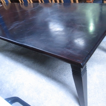 Long Dark Mahogany dining Table