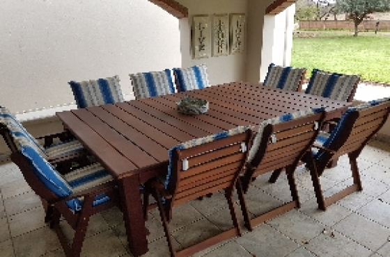 Lovely R 16 000 For Sale. 10 Seater Patio/diningroom Set.