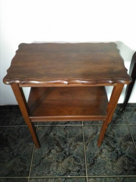 2 Tier imbuia table