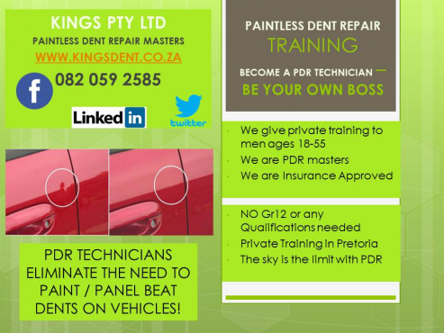 BECOME A PAINTLESS DENT REPAIR TECHNICIAN