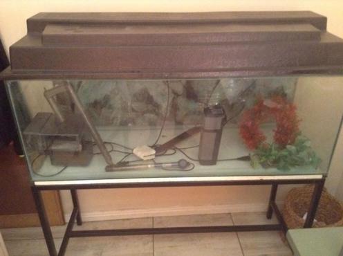 200 L fish tank plus stand,