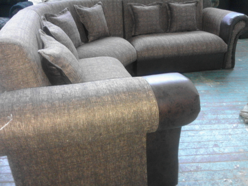 new gold brown couch