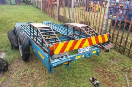 Car trailer 4m double axle for sale