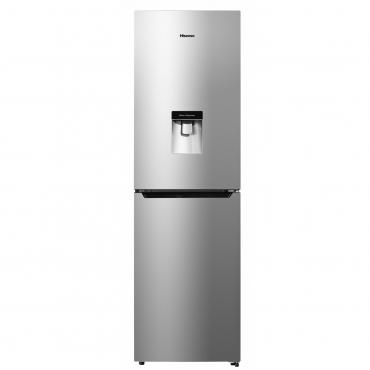 HISENSE 340 l Combi Fridge Freezer with Water Dispenser Inox finish