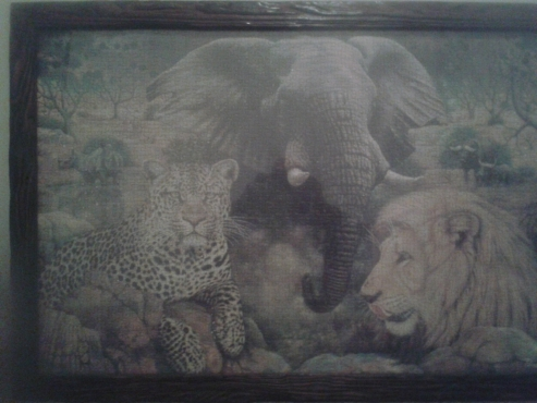 Framed 1600 Big 5 jigsaw puzzle
