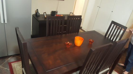6 Seater Table Side