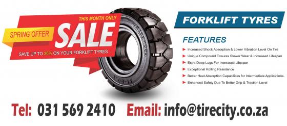 Forklift Solid Tyre Dealer, Tractor Tyre Dealer, Bobcat Tyres - In Port Elizabeth | Tirecity Africa