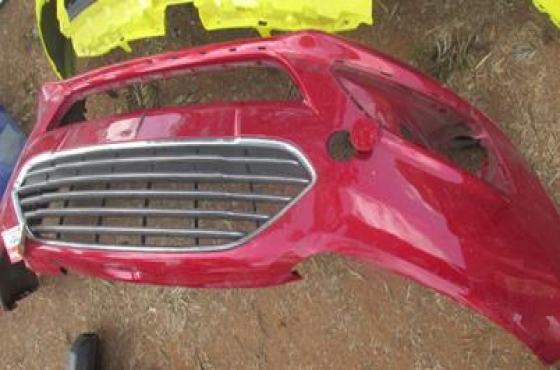 2015 Ford Fiesta Front Bumper Red For Sale