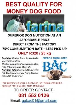 FARINA Dog Food
