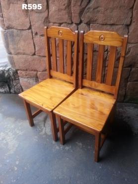 2 x Pine Chairs