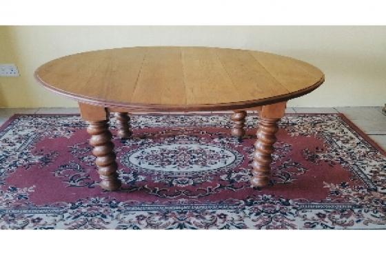 Oak Barley Twist Dining Table