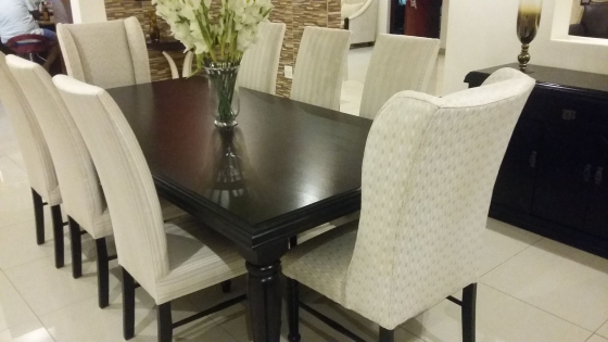 UFO complete dining room table and cabinet a few month old- Avante Range