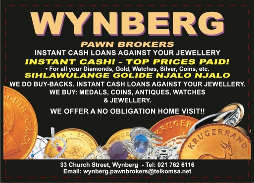 INSTANT CASH FOR GOLD & SILVER JEWELLERY,DIAMOMDS & WATCHES