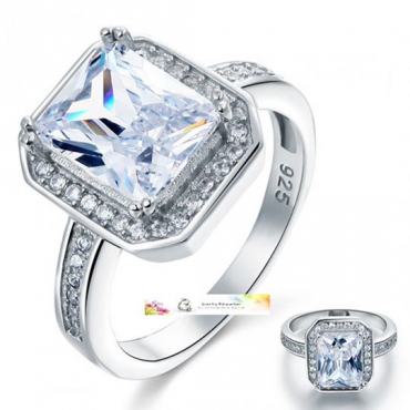 925 Sterling Silver with Zopius Diamond