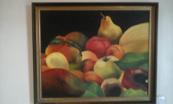 Framed Painting - Fruit still life