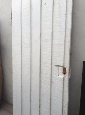Wooden exterior door