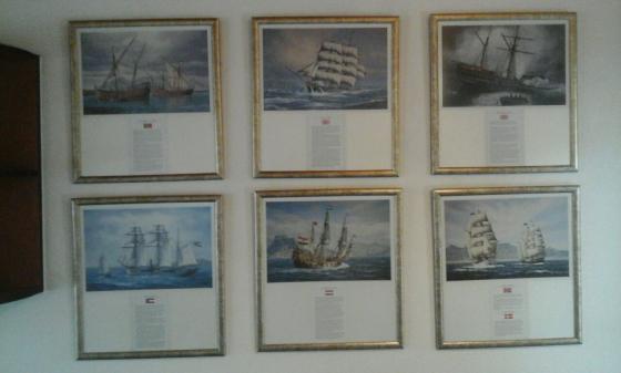 Ships Under Sail - set of 6 prints.