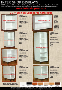 We supply DIY cupboards, clothing rails, hangers