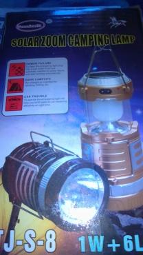 solar  and electric  lantern