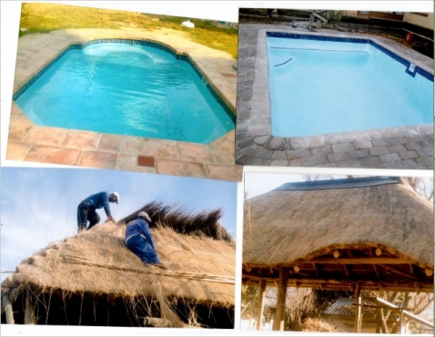 Evans Pools and thatch projects