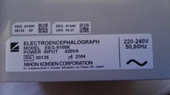 Nihon Kohden 9100K EEG Machine