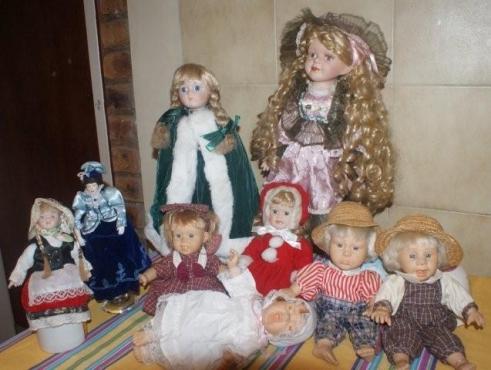 Porcelain dolls collection