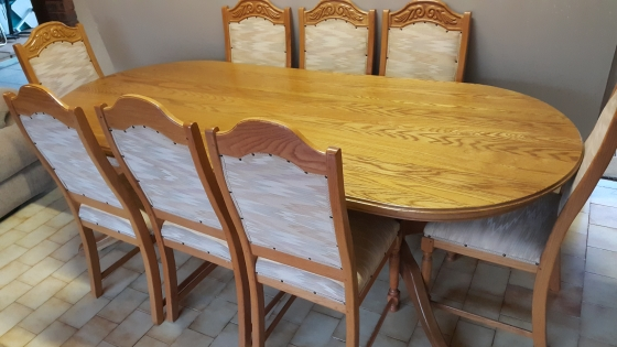 Solid Oak Dining Room Suit