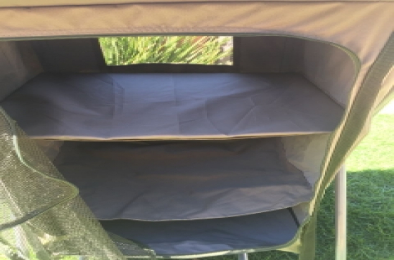 Campmaster 3 shelves camping cupboard