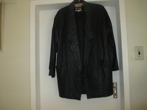Genuine leather  jacket black size medium