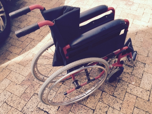 As new fold up wheelchair
