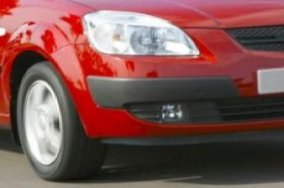 Kia Rio5 2006 right side bumper corner trim molding and spotlight