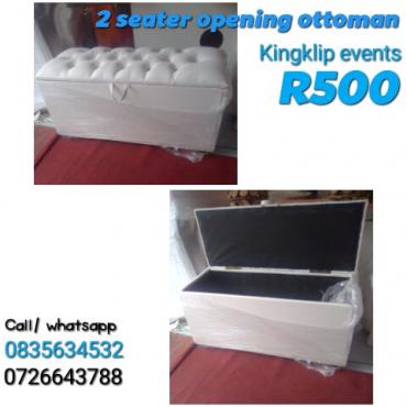 2 seater opening ottoman