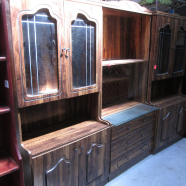 3pc Wooden Wall Unit