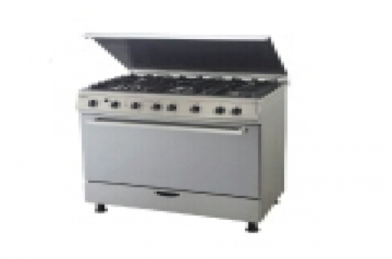 Gas electric stove with extractor fan combo