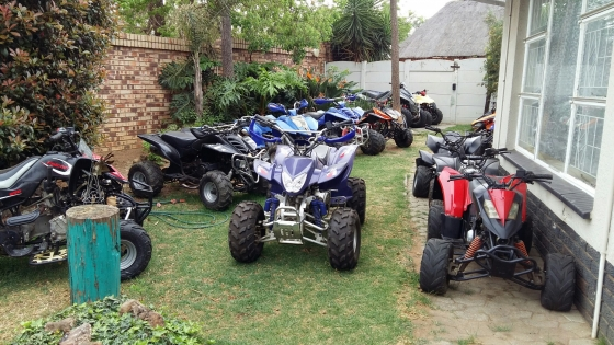 Quad bikes, mobility scooters and trailers for sale.