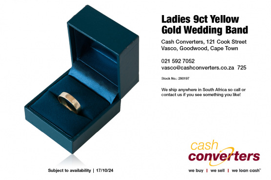 Ladies 9ct Yellow Gold Wedding Band