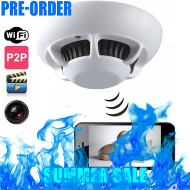 Smoke Detector Camera + WiFi + Infrared + Motion Sensor + Free 32GB
