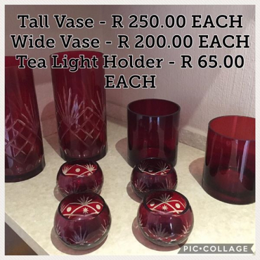 Vases for sale.