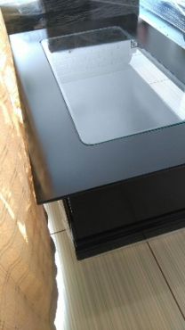 Black wooden glass top coffee table SALE