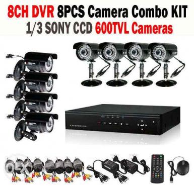 8CH AHD CCTV Security DVR, 8 x Outdoor Night Vision Cameras