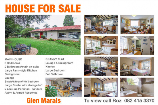 For Sale Large Family Home with Granny flat- Glen Marais