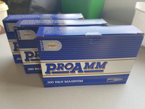PMP Pro-Amm ammo 300 H&H 180gr